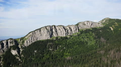 Tatra Mountains,Panorama of the polish mountains in the holiday, Zakopane Stock Footage