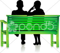 Senioren auf Parkbank Stock Photos