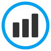 Bar Chart Increase Flat Rounded Vector Icon Stock Illustration