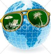 Sonnenbrille global Stock Photos