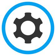 Gear Flat Rounded Vector Icon Stock Illustration