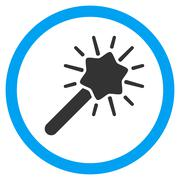 Magic Tool Flat Rounded Vector Icon Stock Illustration