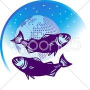 Sternenzeichen fische Stock Photos
