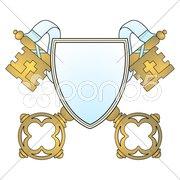Schlüssel Wappen Stock Photos
