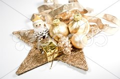 Weihnachtsdekoration mit Stern Stock Photos