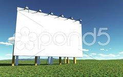 White advertising wall Stock Photos