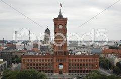 Rotes Rathaus Stock Photos