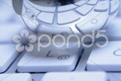 Computer Tastatur Keyboard Silber Kugel Stock Photos