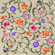 Floral-Muster Stock Photos