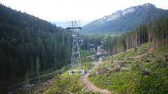 Tatra Mountains,Panorama of the polish mountains in the holiday, Zakopane Stock Footage