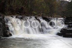 Slow shutter waterfall Stock Photos