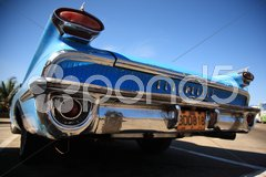 Blue car bumper Havana Stock Photos