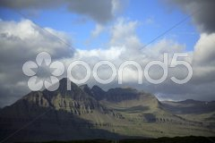 Sunlit mountains Stock Photos