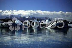 Icebergs and glaciers Stock Photos