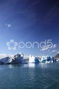 Large icebergs Stock Photos