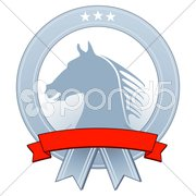 Wappen mit Pferd Stock Photos