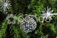 Close up of Christmas decorations Stock Photos