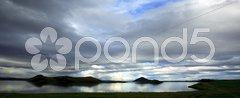 Panoramic view over Lake Myvatn Iceland Stock Photos