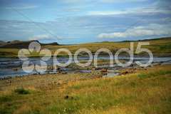 Fields of Iceland Stock Photos
