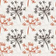 Seamless pattern with wet dandelion or milfoil flowers Stock Illustration