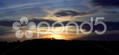 Blazing sunset Stock Photos