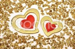 Liebe mit Herz am Valentinstag Stock Photos