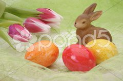 Ostern Osterei Osterhase Stock Photos
