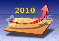 Geschäft Diagramm Pfeil Erfolg Aufschwung 2010 Stock Photos