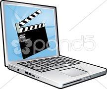 Laptop film Stock Photos