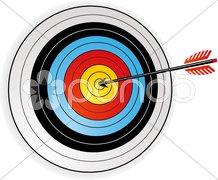 Zielscheibe mit pfeil Kuvituskuvat