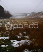 Snowy Yorskhire Moors Stock Photos