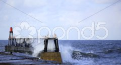 Crashing waves Stock Photos