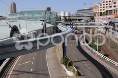 Verkehrswege bei Darling Harbour Stock Photos