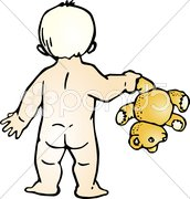 Baby mit teddy Stock Photos