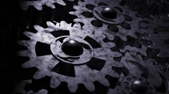 Background 3D gear Stock Footage