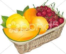 Obst korb Stock Photos