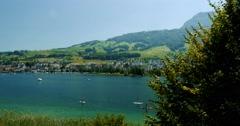 4K, Brienzersee, Switzerland Stock Footage