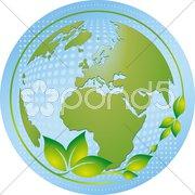 Der blau-grüne Planet Stock Photos