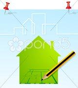 Haus Planung Stock Photos