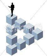 Dreidimensional abstrakt Stock Photos
