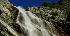 4K, Waterfall At Rifugio Scarfiotti, Italy Stock Footage