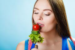 Dieting, healthcare and weight loss concept. Stock Photos