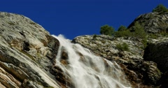 4K, Waterfall At Rifugio Scarfiotti, Italy Stock Footage