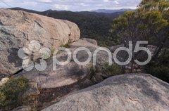 Gipfel von Castle Rock im Girraween NP Stock Photos
