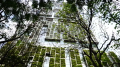 Verdure on the high-rise building. Stock Footage