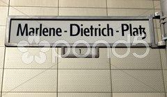 Marlene Dietrich Platz Berlin Stock Photos