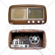 Old AM radio tuner Stock Photos