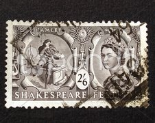 Shakespeare Festival Stamp Stock Photos