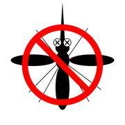 Stop Zika Virus Mosquito Stock Illustration