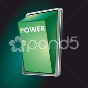 Schalter power Stock Photos